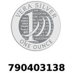 Réf. 790403138 Vera Silver 1 once (LSP)  2018 - REVERS