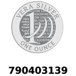 Réf. 790403139 Vera Silver 1 once (LSP)  2018 - REVERS