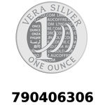 Réf. 790406306 Vera Silver 1 once (LSP)  2018 - REVERS
