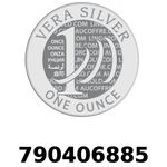 Réf. 790406885 Vera Silver 1 once (LSP)  2018 - REVERS