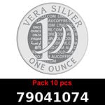 Réf. 79041074 Lot 10 Vera Silver 1 once (LSP)  2018 - REVERS