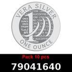 Réf. 79041640 Lot 10 Vera Silver 1 once (LSP)  2018 - REVERS