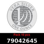Réf. 79042645 Lot 10 Vera Silver 1 once (LSP)  2018 - REVERS