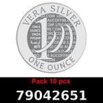 Réf. 79042651 Lot 10 Vera Silver 1 once (LSP)  2018 - REVERS