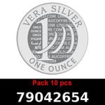 Réf. 79042654 Lot 10 Vera Silver 1 once (LSP)  2018 - REVERS