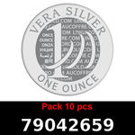Réf. 79042659 Lot 10 Vera Silver 1 once (LSP)  2018 - REVERS