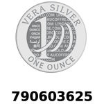 Réf. 790603625 Vera Silver 1 once (LSP - 40MM)  2018 - REVERS
