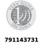 Réf. 791143731 Vera Silver 1 once (LSP - 40MM)  2018 - REVERS