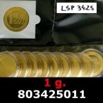 Réf. 803425011 1 gramme d\'or pur - Vera Valor (LSP)  Issu d un lot de 10 Vera Valor 1 once - REVERS