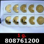 1 gramme d or pur - Vera Valor (LSP - Cours Légal)  Issu d un lot de 10 Vera Valor 1 once Elizabeth II
