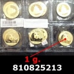 1 gramme d'or pur - Panda (LSP)  Issu d un lot de 10 Pandas 1 once