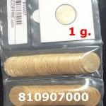 Réf. 810907000 1 gramme d\'or pur - Demi-Napoléon (LSP) 10 Francs Issu d un lot de 100 Mariannes Coq - REVERS