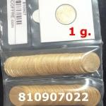 Réf. 810907022 1 gramme d\'or pur - Demi-Napoléon (LSP) 10 Francs Issu d un lot de 100 Mariannes Coq - REVERS