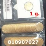 Réf. 810907027 1 gramme d\'or pur - Demi-Napoléon (LSP) 10 Francs Issu d un lot de 100 Mariannes Coq - REVERS