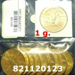 Réf. 821120123 1 gramme d\'or pur - 50 Pesos Mexique (LSP)  Issu d un lot de x10 50 Pesos - REVERS