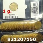 Réf. 821207150 1 gramme d\'or pur - Demi-Napoléon (LSP) 10 Francs Issu d un lot de 100 Mariannes Coq - REVERS