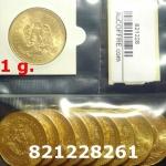 Réf. 821228261 1 gramme d\'or pur - 50 Pesos Mexique (LSP)  Issu d un lot de x10 50 Pesos - REVERS