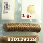 Réf. 830129228 1 gramme d\'or pur - Napoléon (LSP) 20 Francs Issu d un lot de 100 Génie IIIème République - REVERS