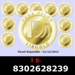 Réf. 8302628239 1 gramme d\'or pur - Vera Valor (LSP)  Issu d un lot de 10 Vera Valor 1 once - REVERS