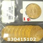 Réf. 830415102 1 gramme d\'or pur - 50 Pesos Mexique (LSP)  Issu d un lot de x10 50 Pesos - REVERS