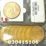 Réf. 830415106 1 gramme d\'or pur - 50 Pesos Mexique (LSP)  Issu d un lot de x10 50 Pesos - REVERS