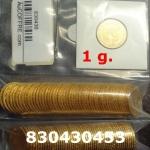 Réf. 830430453 1 gramme d\'or pur - Napoléon (LSP) 20 Francs Issu d un lot de 100 Mariannes Coq - REVERS