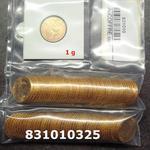 Réf. 831010325 1 gramme d\'or pur - Napoléon (LSP) 20 Francs Issu d un lot de 100 Mariannes Coq - REVERS