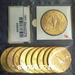 Réf. 840805213 1 gramme d\'or pur - 50 Pesos Mexique (LSP)  Issu d un lot de x10 50 Pesos - REVERS