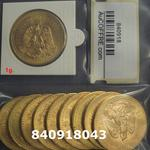 Réf. 840918043 1 gramme d\'or pur - 50 Pesos Mexique (LSP)  Issu d un lot de x10 50 Pesos - REVERS