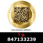 Réf. 847133239 1 gramme d\'or pur - Vera Valor (LSP)  Issu d un lot de 10 Vera Valor 1 once - REVERS