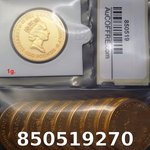 Réf. 850519270 1 gramme d\'or pur - Britannia (LSP)  Issu d un lot de 10 Britannia 1 once - REVERS