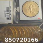 Réf. 850720166 1 gramme d\'or pur - 50 Pesos Mexique (LSP)  Issu d un lot de x10 50 Pesos - REVERS