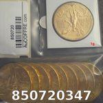 Réf. 850720347 1 gramme d\'or pur - 50 Pesos Mexique (LSP)  Issu d un lot de x10 50 Pesos - REVERS