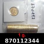 Réf. 870112344 1 gramme d\'or pur - Napoléon (LSP) 20 Francs Issu d un lot de 100 Mariannes Coq - REVERS