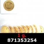 Réf. 871353254 1 gramme d\'or pur - Vera Valor (LSP)  Issu d un lot de 10 Vera Valor 1 once - REVERS