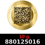 Réf. 880125016 10 grammes d\'or pur - Vera Valor (LSP)  Issu d un lot de 10 Vera Valor 1 once - REVERS