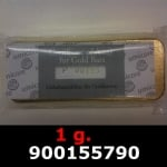 Réf. 900155790 1 gramme d\'or pur (Lingot LSP)  Issu d un lingot good delivery de 1 kilo - REVERS