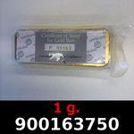 Réf. 900163750 1 gramme d\'or pur (Lingot LSP)  Issu d un lingot good delivery de 1 kilo - REVERS