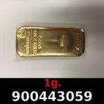 Réf. 900443059 1 gramme d\'or pur (Lingot LSP)  Issu d un lingot good delivery de 1 kilo - REVERS