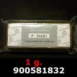 Réf. 900581832 1 gramme d\'or pur (Lingot LSP)  Issu d un lingot good delivery de 1 kilo - REVERS