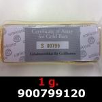 Réf. 900799120 1 gramme d\'or pur (Lingot LSP)  Issu d un lingot good delivery de 1 kilo - REVERS