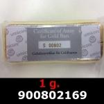Réf. 900802169 1 gramme d\'or pur (Lingot LSP)  Issu d un lingot good delivery de 1 kilo - REVERS
