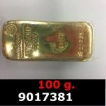 100 grammes d'or pur (LSP)  Issu d un lingot good delivery de 1 kilo