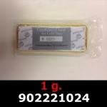 Réf. 902221024 1 gramme d\'or pur (Lingot LSP)  Issu d un lingot good delivery de 1 kilo - REVERS