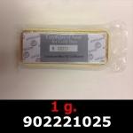 Réf. 902221025 1 gramme d\'or pur (Lingot LSP)  Issu d un lingot good delivery de 1 kilo - REVERS