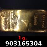 Réf. 903165304 1 gramme d\'or pur (Lingot LSP)  Issu d un lingot good delivery de 1 kilo - REVERS
