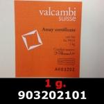Réf. 903202101 1 gramme d\'or pur (Lingot LSP)  Issu d un lingot good delivery de 1 kilo - REVERS