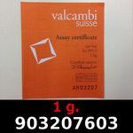 Réf. 903207603 1 gramme d\'or pur (Lingot LSP)  Issu d un lingot good delivery de 1 kilo - REVERS