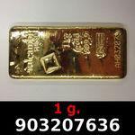 Réf. 903207636 1 gramme d\'or pur (Lingot LSP)  Issu d un lingot good delivery de 1 kilo - REVERS