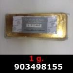 Réf. 903498155 1 gramme d\'or pur (Lingot LSP)  Issu d un lingot good delivery de 1 kilo - REVERS